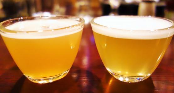 ヴァイツェン(左)とセゾン(右)燻製1つとっても色々なビールの相性がある