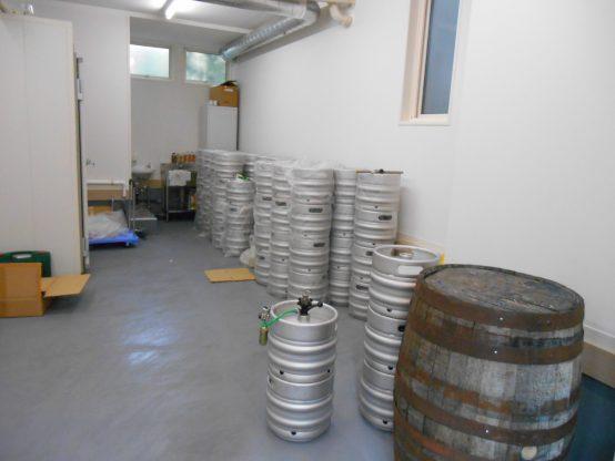 このスペースで今後ハウスビールの醸造が行われます。