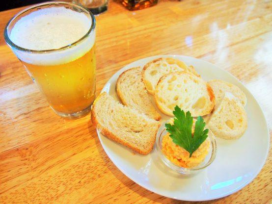 『海老バター』と胎内高原ビール『ベルジャンウィートエール』
