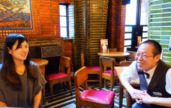 今回、取材のご協力いただいた広報の西村氏(左)とビヤマイスターの井上氏(右)。