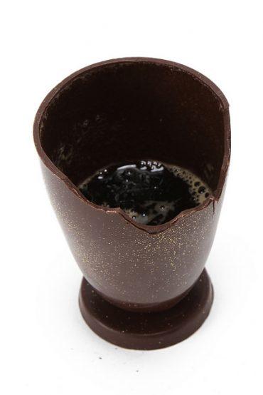 チョコレート製グラス