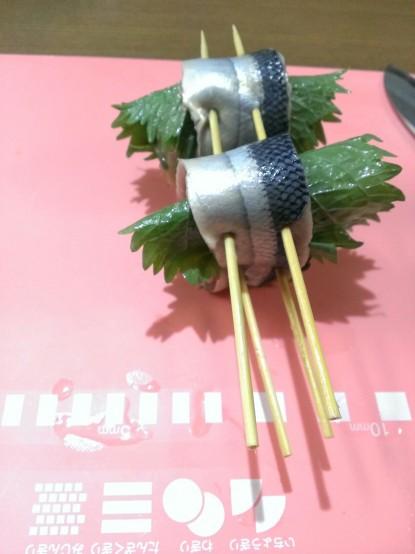 串を四本刺したところ
