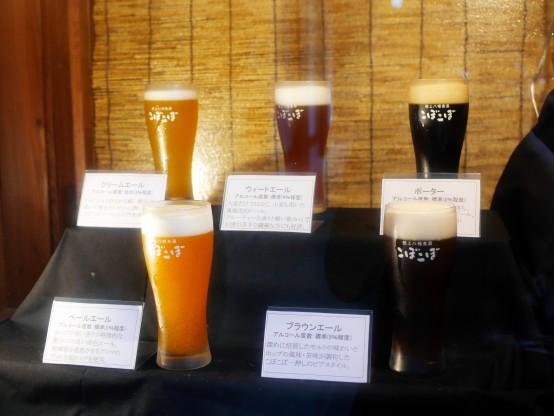 「ビールや泡の微妙な色の違いを再現するのに職人さんが苦労したそうです」と醸造長の松本さんが言うのも納得の再現性の高さ