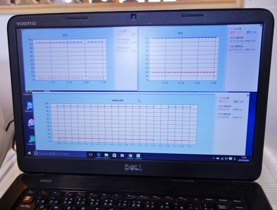 1分刻みで、温度管理が可能。きめ細かな情報管理は品質維持には欠かせない