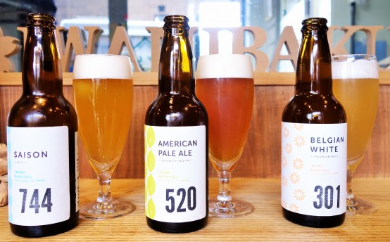 スタートは3種類。今後も様々なビールが登場予定だ!