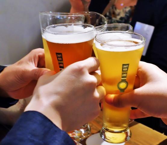 ビールイベントにはやっぱり乾杯は欠かせない