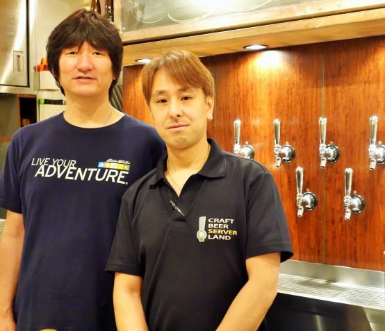 オーナーの斉藤氏(左)、ビアマネージャーの鈴木氏(右)