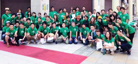 岐阜ビール祭りを支えるボランティアスタッフさんたちと。