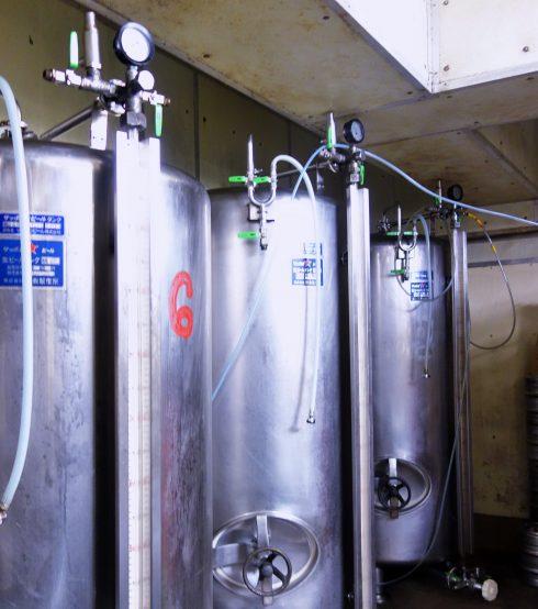 お店の地下にあるタンク。美味しいビールを提供するためにビールをどのくらいストックしておくかもビヤマイスターの腕の見せところだそうだ