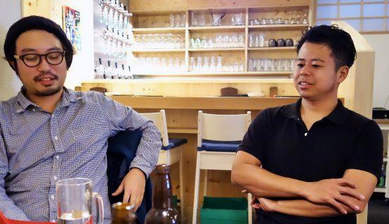 10antsBrewingは3人の男たちの想いよって造られたブルワリーだ。左が経営企画部長の月方氏。右が代表取締役の本間氏。