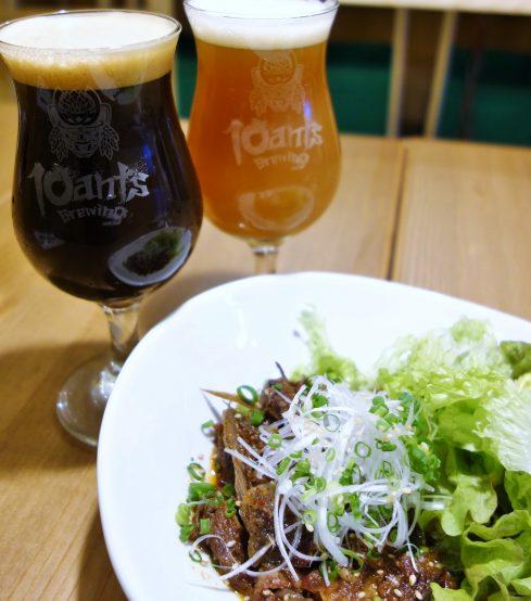10ants Brewingのビールは立川にある和が家立川店で飲むことができる。 国産の牛すじはビールとの相性ピッタリの逸品!ぜひ、食べてもらいたい!