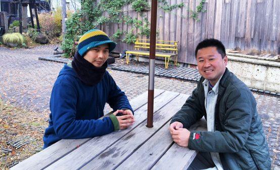マスターブリュワーの筒井貴史氏(左)と杜氏の五十嵐哲朗氏(右)