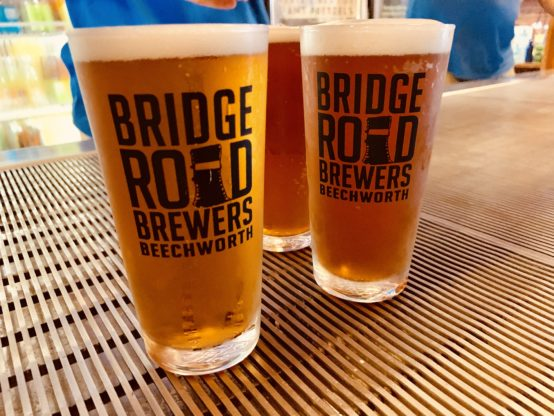 bridge road brewers - beer glass