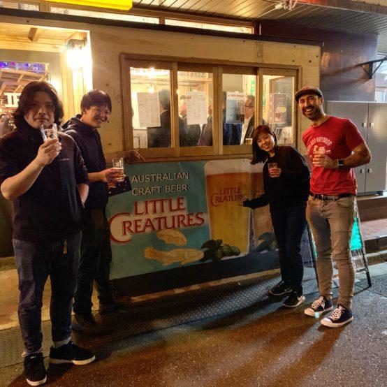 左からCraft Beer Companyの染谷さん、木水さん、ベアードブルーイングの小林さん、Jum氏