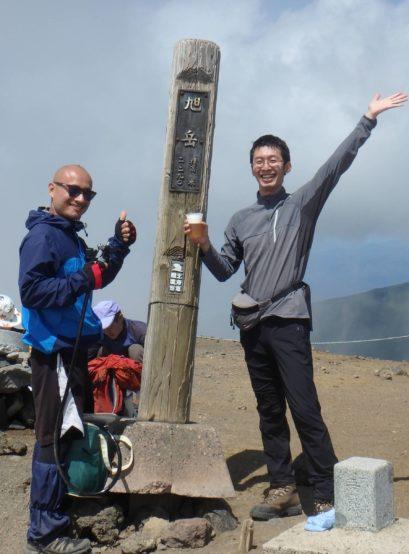 旭岳山頂でクラフトビール!