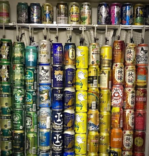 ビール缶カーテン