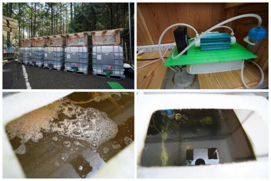 手作りの浄水装置