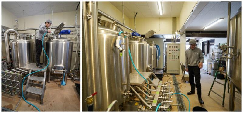 大三島ブリュワリー 醸造スペース
