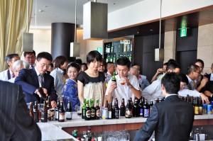 授賞式後には受賞銘柄の試飲会が行われた
