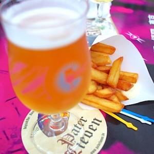 ホワイトビールの「パーテル リーヴェン・ヴィット」とフリッツ